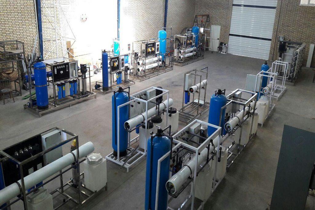 کارخانه تولید دستگاه تصفیه آب صنعتی